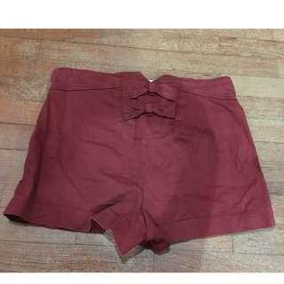 I LOVE H81 Reddish Low Waist Demin Jeans Shorts