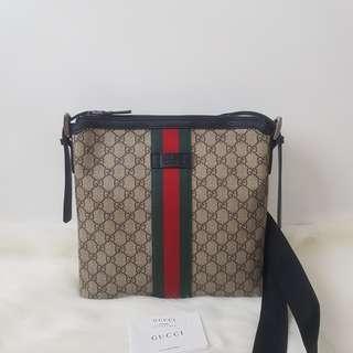 ON HAND: Authentic Gucci Web GG Supreme Messenger Crossbody Bag