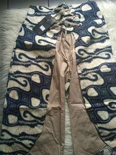 Celana Dress Batik Ikat Tali All Size