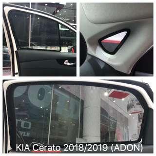Original ADON Shades Custom Fit Magnetic Sunshades on KIA Cerato 2018/2019