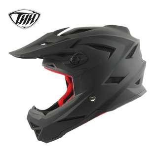 ★INSTOCK SIZE L ONLY★ THH ★ Full Face Motorcycle Helmet ★ Motocross  ★ Scrambler ★ Offroad ★ accessories ★ Dirt Bike ★ Black Matte ★ Matt  ★ motorbike ★ New arrivals ★ Hurry while stock lasts
