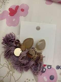 H & M Violet Earrings