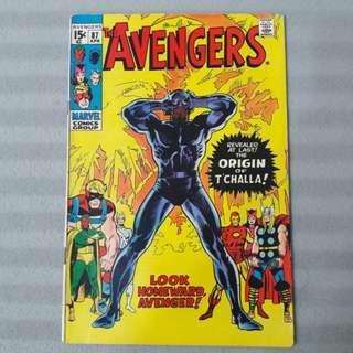 Avengers #87 - Origin of Black Panther Retold