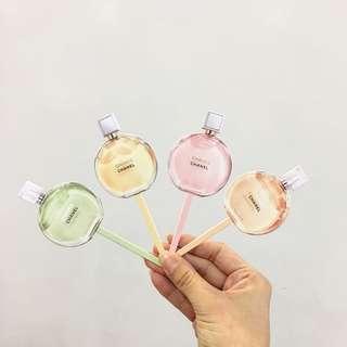 🆓Postage!!🆕Chanel Lollipop Perfume Card  x4