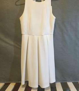 TEMT white mini dress