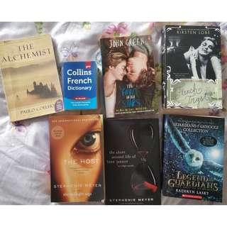 Assorted Books (VCE, Novels)