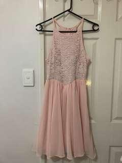 Pink Halter Semi formal / Party dress
