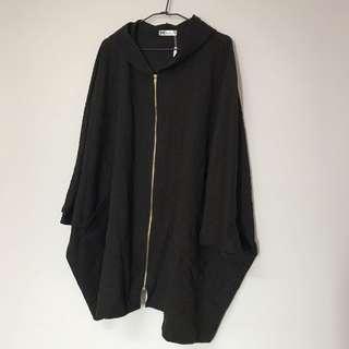 🚚 麻花織紋大飛鼠袖外套