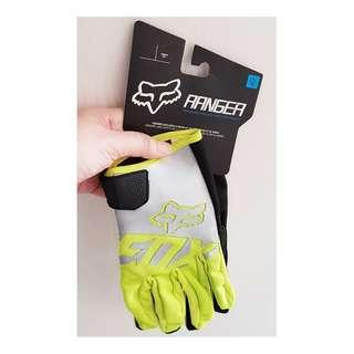 ★INSTOCK L ONLY ★ FOX HIGH QUALITY MOTORCYCLE GLOVES ★ Grey & Green ★Motocross ★Scrambler ★ Offroad ★Dirt Bike ★ Racing ★ Touch Screen smart tip ★ Motorbike ★ Hurry while stock lasts★
