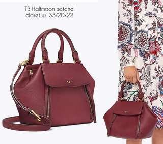 TB Halfmoon satchel medium sz 33/20x22