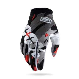 ★INSTOCK L & XL ★ RIDEFIT ★ 100% Motorcycle Gloves ★Motocross ★Scrambler ★ Offroad ★Dirt Bike ★ E-scooter ★ Touch Screen smart tip ★Black Grey ★ New arrivals ★ While stock lasts