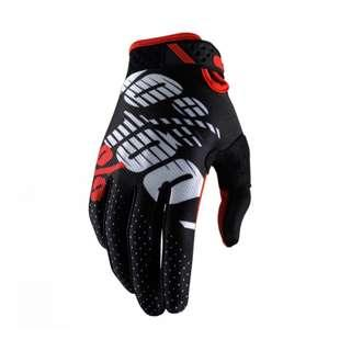 ★INSTOCK L & XL ★ Ridefit ★ 100% ★ Motorcycle Gloves ★Motocross ★ Scrambler ★ Dirt Bike ★ E-scooter ★ Touch Screen smart tip ★Black Red ★ New arrivals ★ PMD ★  electric scooter