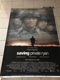 Movie poster. 'Saving Private Ryan'. Height 5.5 feet x width 4 feet. Will look great in music/tv room. $70.