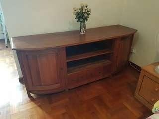 Antique solid wood console