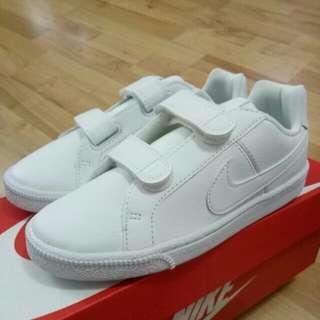 🔥13C🔥 Nike Court Royale (TDV) Kids Children White School Shoes