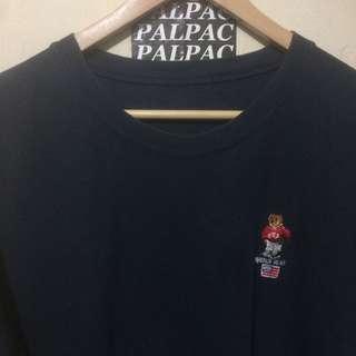 "Ts vintage Polo Bear embroidery logo pocket ""single stitch"""