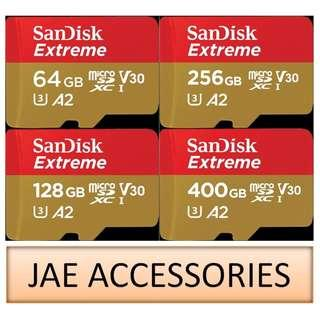 For Gopro Sandisk Extreme 4K A2 64GB to 400GB microSD Card