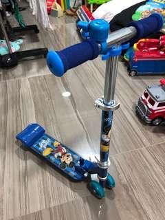 Disney Mickey Mouse Kids Foldable Skater/Scooter
