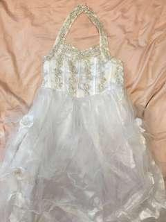 BN White Party Dress for Girl