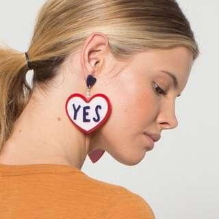 Gorman Yes to love earrings