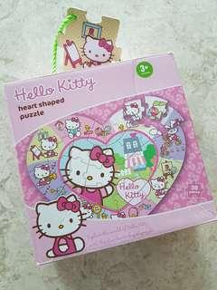 M & S Hello Kitty Heart Shaped Jigsaw Puzzle
