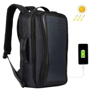 HAWEEL Flexible Solar Panel 14W Power Backpack Laptop Bag with Handle and USB Charging Port