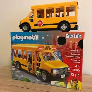 Playmobil School Bus with figures
