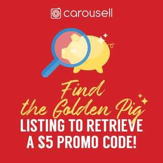 Hunt for the Golden Pig to get a $5 CarouPay promo code!