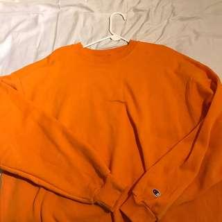 Orange Champion Crewneck