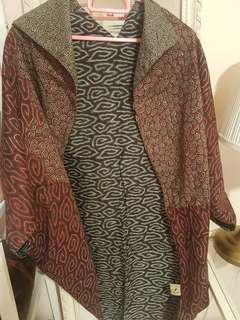 Reversible batik kimono