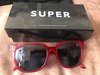 Retrosuperfuture transparent red sunglasses