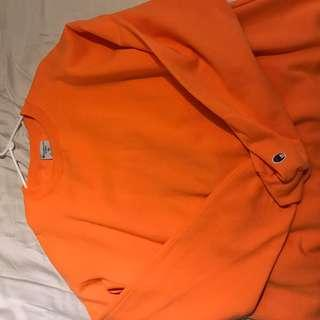 NEON Orange Champion Crewneck