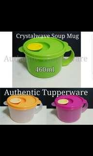 Instock Authentic Tupperware  Crystalwave Soup Mug 460ml 《Retail Price S$12.90/Pc》