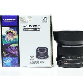 Olympus M.Zuiko Digital 25mm f1.8 Lens