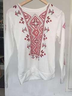 Red tribal sweatshirt