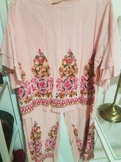 Embroidery Two piece set