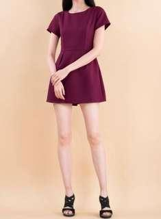 Ninth Collective Maroon Romper