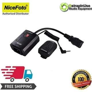 Nicefoto AC-04B 4 Channel Wireless FM Studio Flash Trigger Transmitter + Receiver