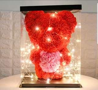 INSTOCK ROSE BEAR WITH LED AND BOX