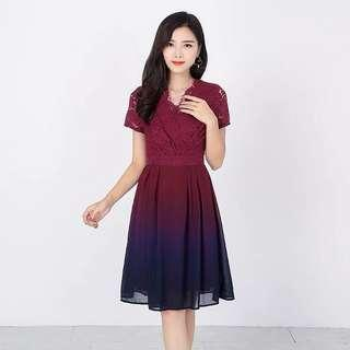 🚚 Preorder Ombre Series Lace Dress