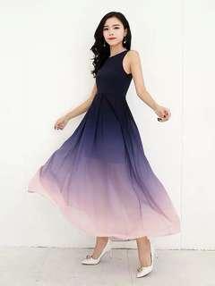 🚚 Preorder Ombre Series Maxi Dress