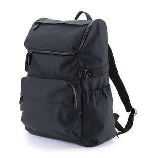 【美國親自帶回】MUJI無印良品尼龍附側面調整帶寬口後背包 (近全新)