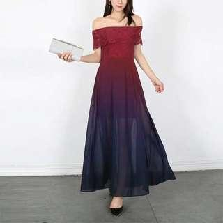🚚 Preorder Ombre Series Laces Maxi Dress