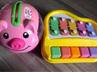 Buddle Sales (Fisherprice Laugh & Learn Smart Stages Piggy Bank & Mini Piano and Xylophone Toy Musical Instruments)