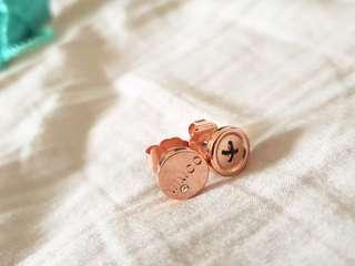 Mimco rose gold stud earrings