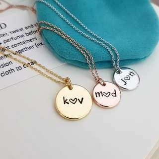 Customised Personalised Coin Charm Necklace | Couples Friendship Wedding Birthday Anniversary Gifts