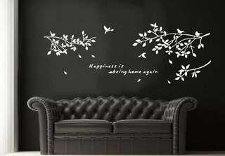 Inspirational wall decal / wall stickers / home deco - happiness is being home again