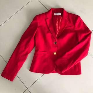 Calvin Klein Red Women's Blazer
