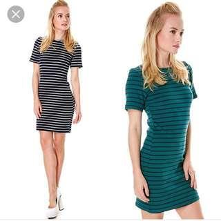 Tracyeinny Forest Striped Tee Dress