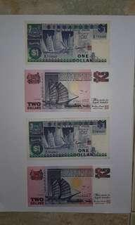 Singapore old notes (S$1 and S$2)
